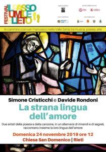 Simone Cristicchi - Con Davide Rondoni - La Strana lingua dell'amore